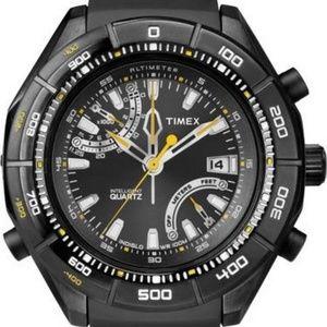 T2N729 Men's Black Analog Watch With Black Dial
